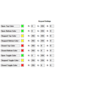Properties Page: Keypad Settings